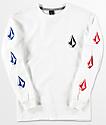 Volcom Boys Deadly Stones White Long Sleeve T-Shirt
