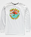Volcom Boys Fade White Long Sleeve T-Shirt