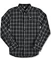 Volcom Boys Fulton Grey Flannel Shirt