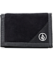 Volcom Circle Stone Black Trifold Wallet