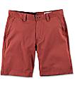 Volcom Frickin Lightweight Stretch Red Chino Shorts