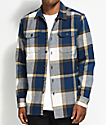 Volcom Heavy Daze Navy & Yellow Flannel Shirt