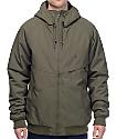 Volcom Hernan Olive Insulated Bomber Jacket