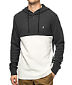 Volcom Murphy Charcoal & White Thermal Henley Shirt