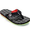 Volcom Recliner Jah Rasta Sandals