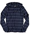 Volcom Sanders Hooded Navy Youth Long Sleeve T-Shirt