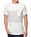 Volcom Threezy White Stripe Pocket T-Shirt