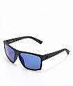 Von Zipper Dipstick Polarized Black Satin & Blue Sunglasses