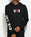 YRN Culture U Embroidered Black Hoodie
