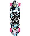 "Z-Flex Acid Swirl Black 27.5""  Cruiser Complete Skateboard"