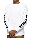 Zero Negative Zero White Long Sleeve T-Shirt