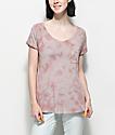 Zine Adriana Mauve Tie Dye Pocket T-Shirt