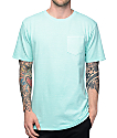 Zine Alta Blue Pigment Dye Pocket T-Shirt