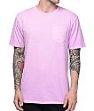 Zine Alta Purple Pigment Dye Pocket T-Shirt