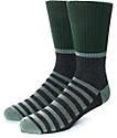 Zine Blast Olive & Grey Crew Socks