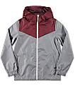 Zine Boys Sprint Maroon & Grey Windbreaker Jacket