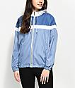 Zine Britta Blue & White Lined Windbreaker Jacket