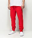 Zine Cap Red Fleece Jogger Pants