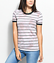 Zine Doris Mauve Stripe Tie Dye T-Shirt