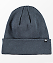Zine Essential Blue Gas Station Fold Over Beanie