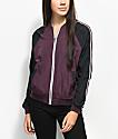 Zine Harlow Burgundy & Charcoal Colorblock Jacket