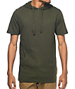 Zine Heading Home Olive Hooded T-Shirt