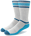 Zine Kick It Heather Grey, Teal & Navy Crew Socks