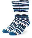 Zine Legion Dark Turquoise & Cream Crew Socks