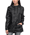 Zine Mae Black Long Windbreaker Jacket