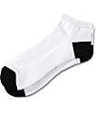 Zine Quarter White & Black Mid Socks