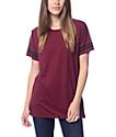 Zine Sherman Heather Red & Black Stripe T-Shirt