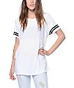Zine Sherman White & Black Striped T-Shirt