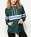 Zine Shiloh Dark Green Pullover Windbreaker Jacket