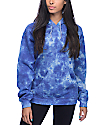 Zine Tera sudadera con capucha con efecto tie dye azul