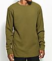 Zine Waffle Knit Olive Long Sleeve Thermal