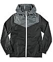 Zine Youth Sprint Black & Charcoal Windbreaker Jacket