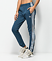 adidas 3 Stripe Blue Track Pants