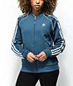 adidas 3 Stripe Dark Teal Track Jacket