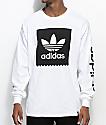 adidas Blackbird White Long Sleeve T-Shirt