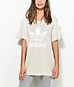 adidas Boyfriend Trefoil Khaki T-Shirt