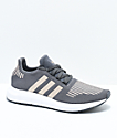 adidas Boys Swift Run Grey, Copper & White Shoes