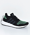 adidas Boys Swift Run Utility Black & White Shoes