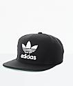 adidas Men's Trefoil Chain Black & White Snapback Hat