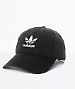adidas Men's Trefoil Curved Bill Black Strapback Hat