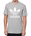 adidas Originals Trefoil Heather Grey T-Shirt