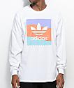 adidas Pastel Blackbird White Long Sleeve T-Shirt