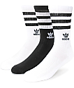 adidas Roller Black & White Crew Socks 3 Pack