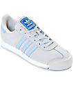 adidas Samoa Grey, Blue & White Shoes