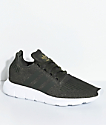 adidas Swift Run Night Cargo Green & White Shoes