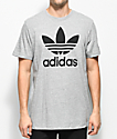 adidas Trefoil Heather Grey T-Shirt